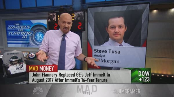 Cramer explains why GE's board really booted former CEO John Flannery