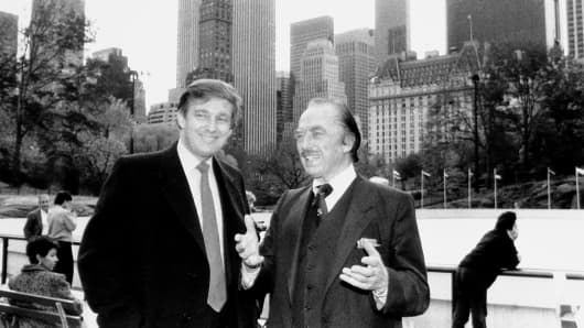 Donald Trump and father Fred Trump at opening of Wollman Rink.