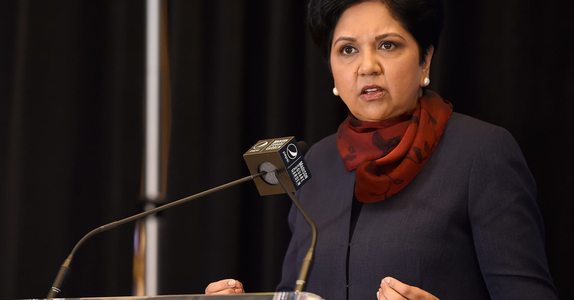 Indra Nooyi attends The Madison Square Garden Company Announcement.