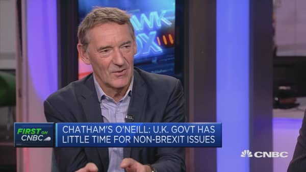 O'Neill: UK's May 'positively surprised' with party conference speech