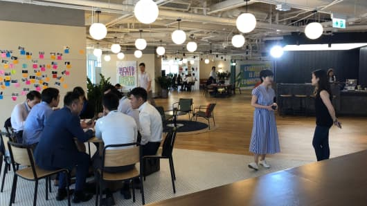 WeWork designed and  now operates a Standard Chartered office in Hong Kong