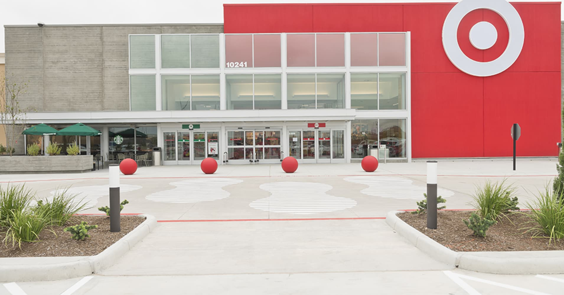 The outside of a remodeled Target store in Richmond, TX.