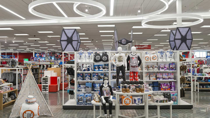 The toy section of a remodeled Target store in Richmond, Texas.