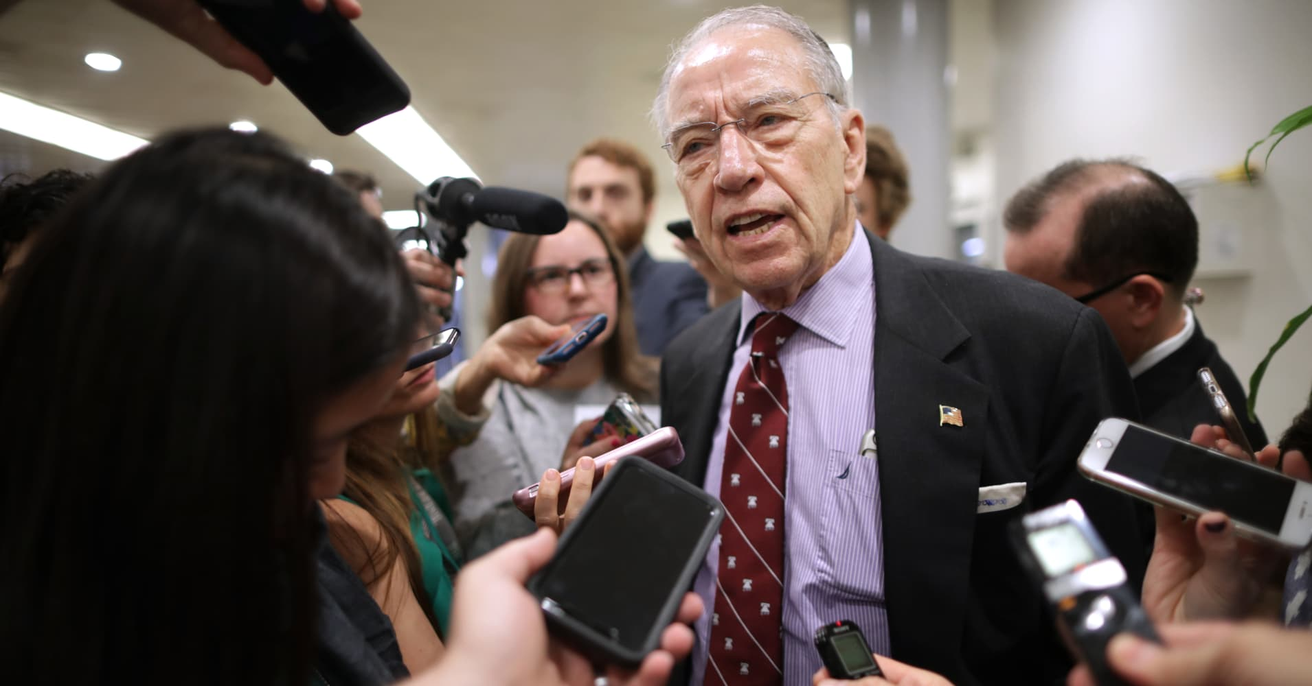 Republican Sen. Chuck Grassley doubts Obamacare will be ruled unconstitutional