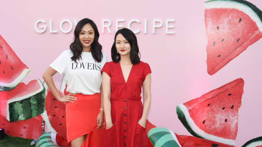 Co-founders of K-beauty company Glow Recipe, Sarah Lee and Christine Chang. The former L'Oreal executives' watermelon face mask has become one of the best-selling products at Sephora.