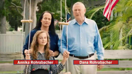 Rep. Dana Rohrabacher's TV ad with daughter  Annika