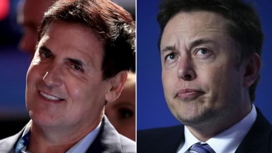 Mark Cuban and Elon Musk.
