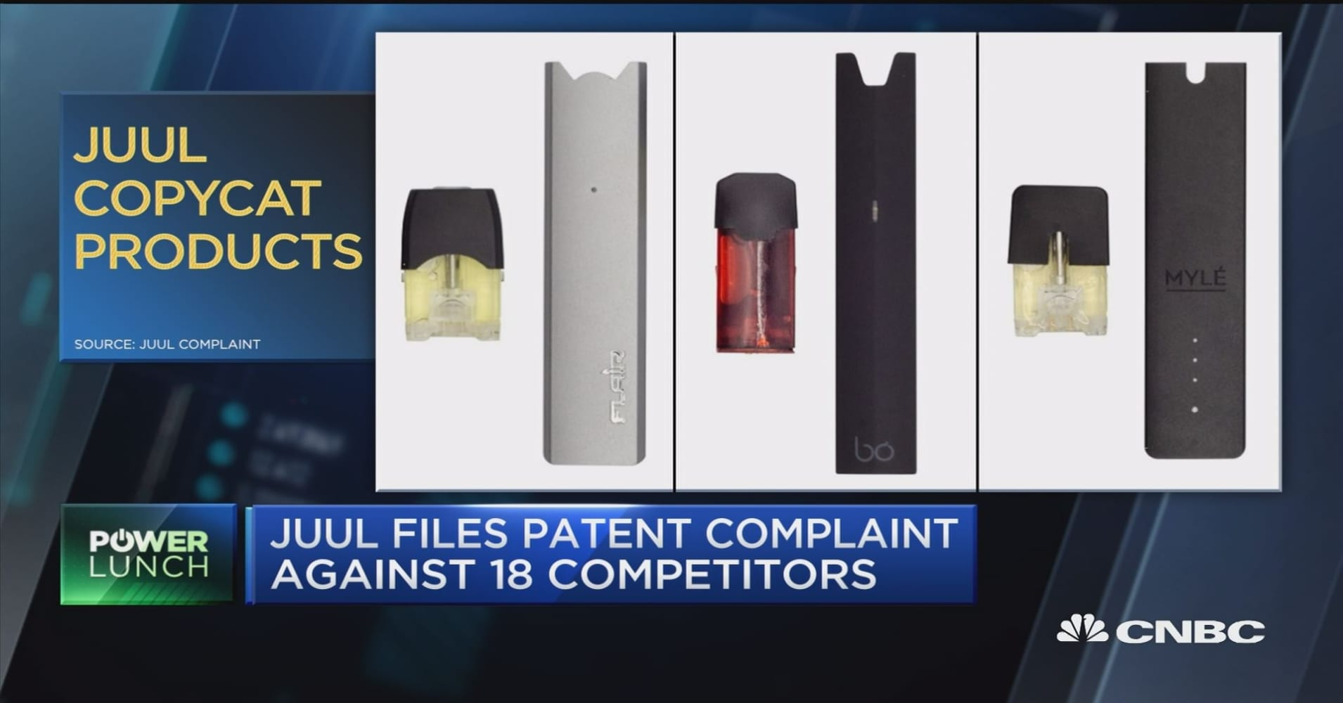 Juul files patent complaint against 18 competitors