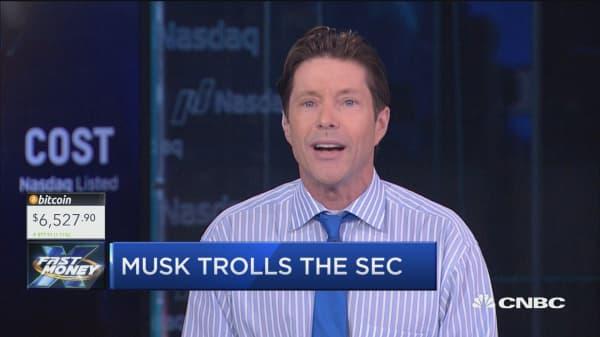 Musk trolls the SEC