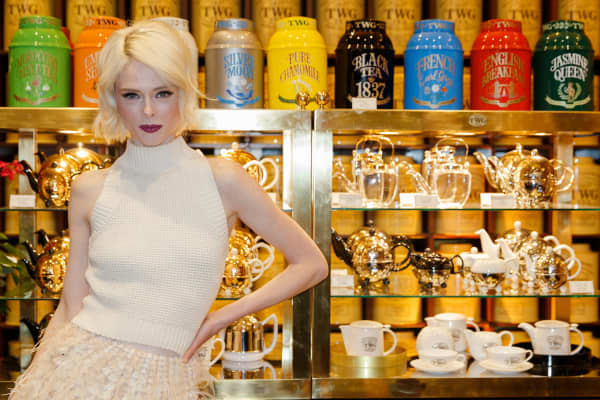 \ Model Coco Rocha attends the grand opening of North America's first TWG Tea Salon & Boutique on December 8, 2016 in Vancouver, Canada.