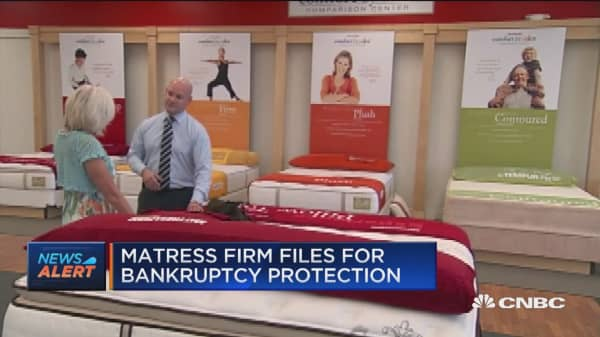 Mattress Firm files for bankruptcy protection