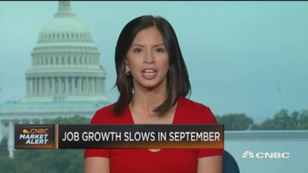 Job growth slows in September