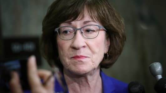 Sen Susan Collins R ME Answers Questions From Reporters On Allegations Against