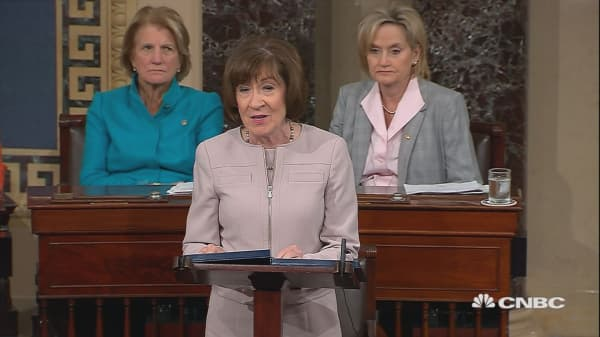 Republican Senator Susan Collins will vote 'yes' for Brett Kavanaugh