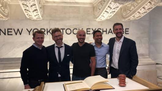 Elastic board members left to right: Peter Fenton, Steven Schuurman, Shay Banon, Chetan Puttagunta, Mike Volpi