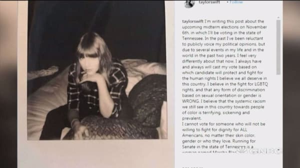 Taylor Swift breaks political silence, endorses Democrats