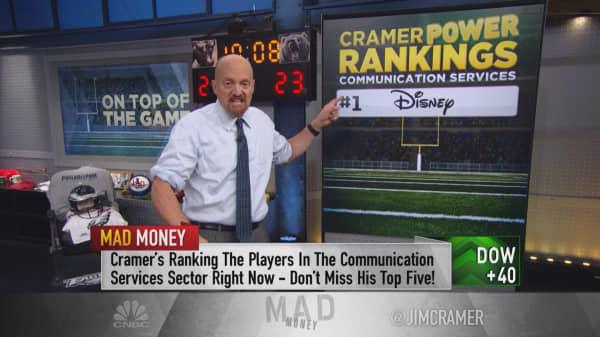 Cramer's 'power ranking' of communication services stocks: Disney, Alphabet, Take-Two, Viacom, Netflix