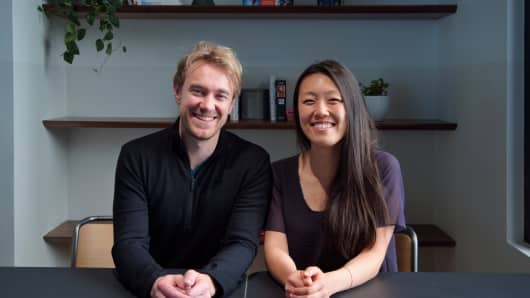 Nancy Yu, co-founder of disease research start-up RDMD along with Onno Faber, said powerful women she worked for at 23andMe were among the leaders who showed her that it was 'OK to speak my mind, even if it was edgy or even inappropriate.'