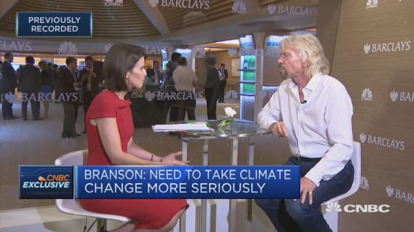 We need to take climate change seriously, Richard Branson says