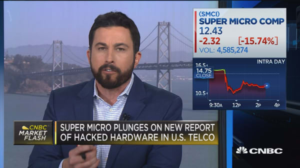 Super Micro plunges on new report of hacked hardware in US