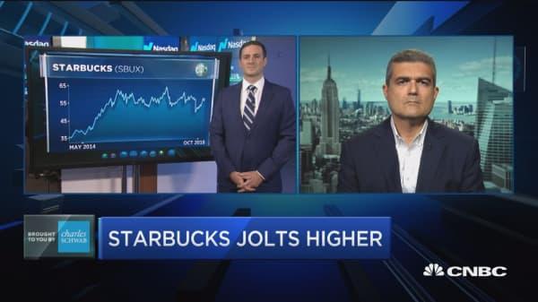 Trading Nation: Starbucks jolts higher
