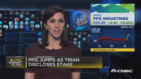 PPG jumps as Trian discloses stake