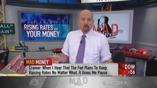 Cramer admits he's 'more concerned than most' about the Fed's effect on the economy