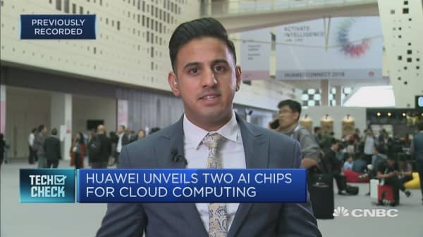 Huawei unveils two A.I. chips for cloud computing
