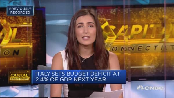 Markets fret over Italy's budget and deficit plans