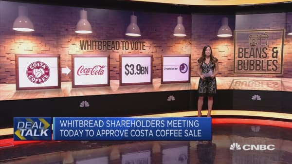 Whitbread to approve proposed sale of Costa to Coca-Cola