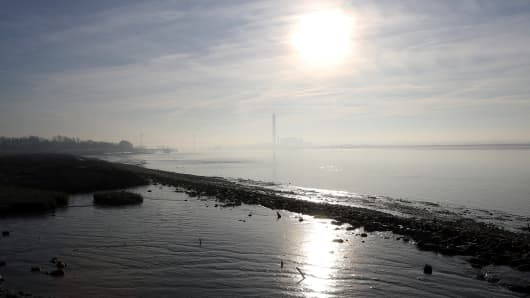 Winter Sun Over The Thames Estuary