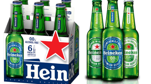 Heineken introduces alcohol free beer.