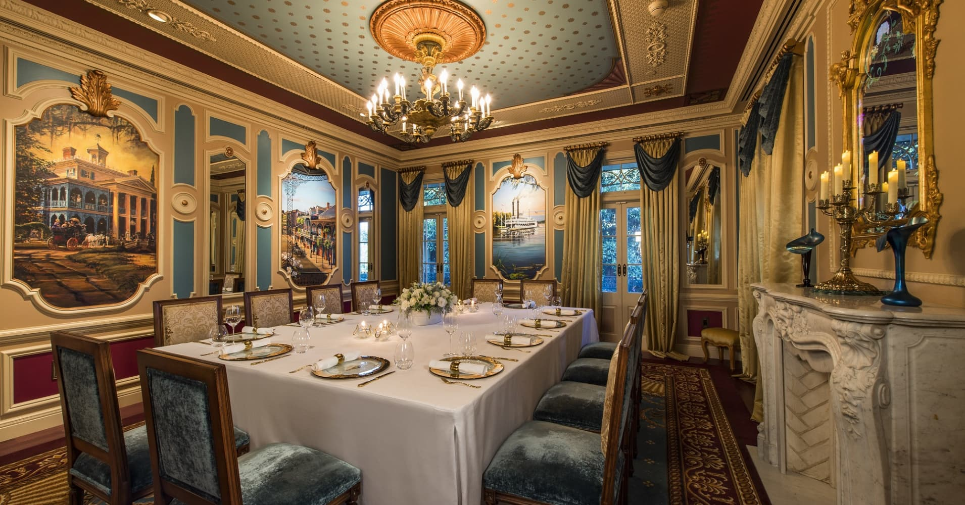 The dining room at Disney's 21 Royal.