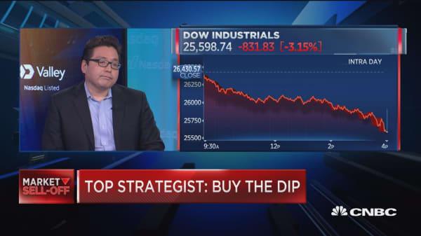 More market upside ahead, buy this dip, says Fundstrat's Tom Lee