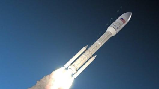 A rendering of Orbital ATK's OmegA rocket.