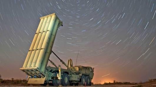 Lockheed Martin's THAAD launcher.