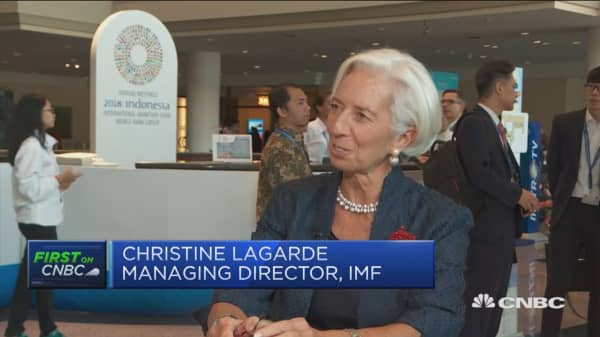 I wouldn't associate J Powell with craziness, Christine Lagarde says
