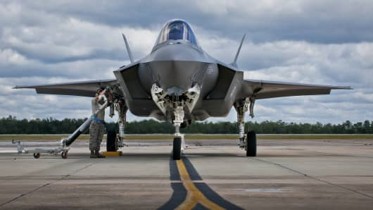 An F-35 at Eglin Air Force Base, Florida.