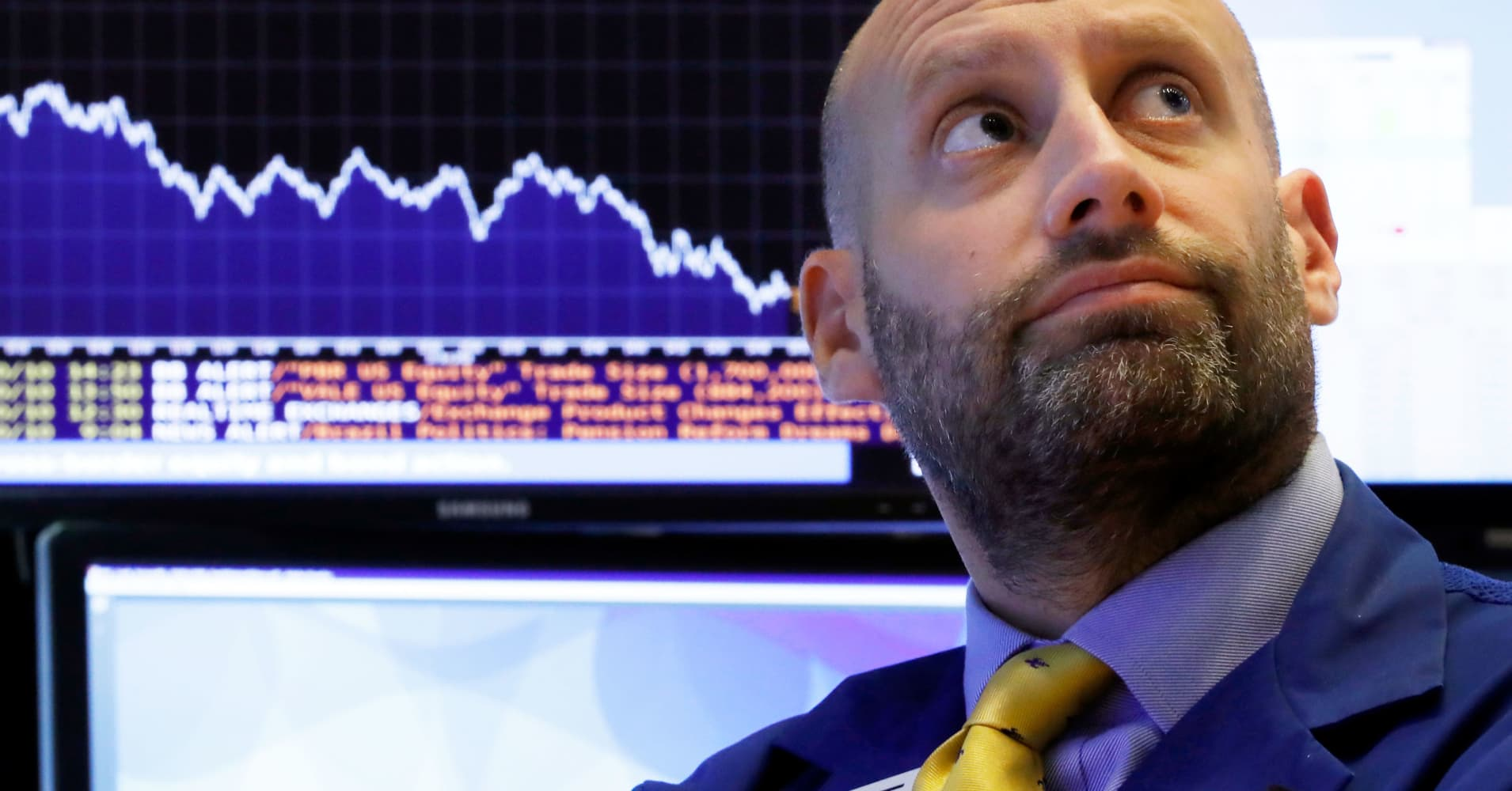 Dow erases gains for the year, tumbles 600 points as stocks extend October swoon