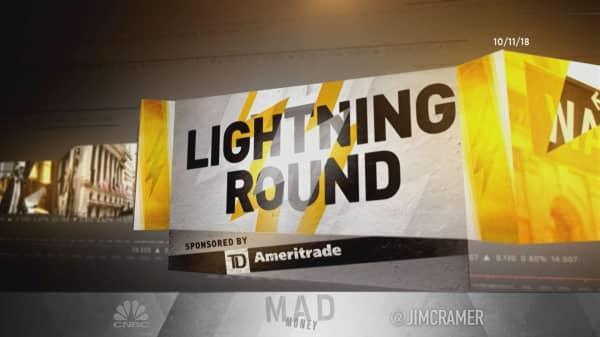 Cramer's lightning round: Waving the red flag on Vodafone's stock