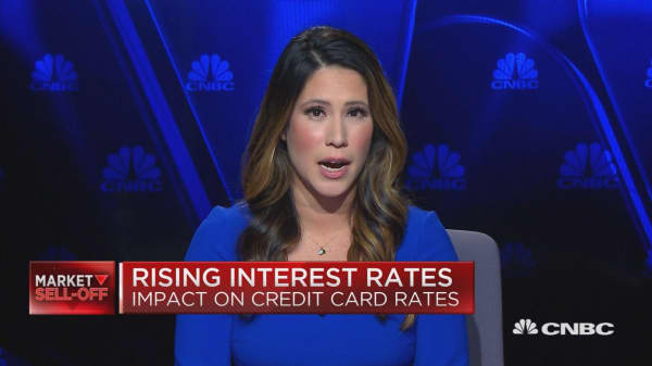 Rising interest rates and credit card balances