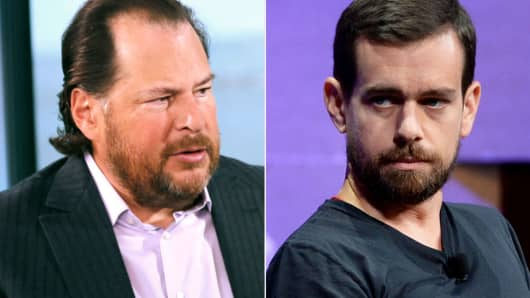 Tech CEOs Dorsey And Benioff Face-Off Over San Francisco Homeless Tax