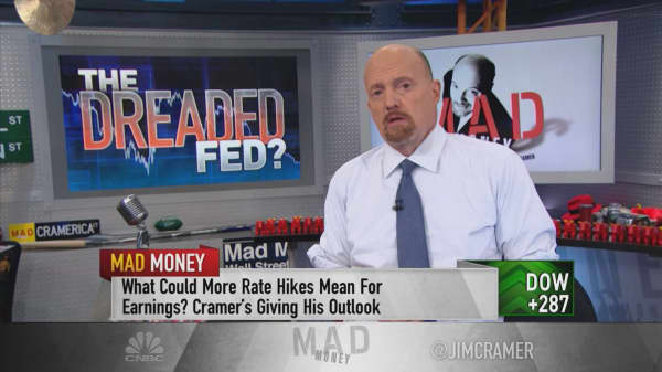 Cramer says the Fed could cause a 2019 slowdown with its aggressive rate hike agenda