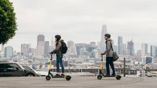 Skip scooters in San Francisco