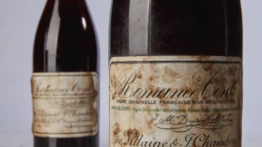 The 2 bottles ofFrench Burgundy sold from the personal cellar of Robert Drouhin, patriarch of the family-run Maison Joseph Drouhin in Burgundy.