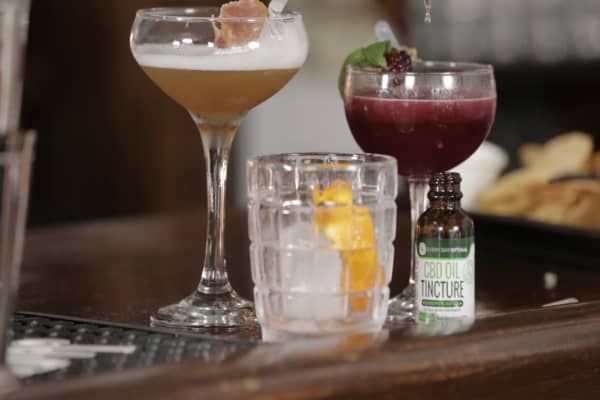 A look inside NYC's newest CBD cocktail bar