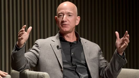 Jeff Bezos speaks onstage at WIRED25 Summit: WIRED Celebrates 25th Anniversary With Tech Icons Of The Past & Future on October 15, 2018 in San Francisco, California.