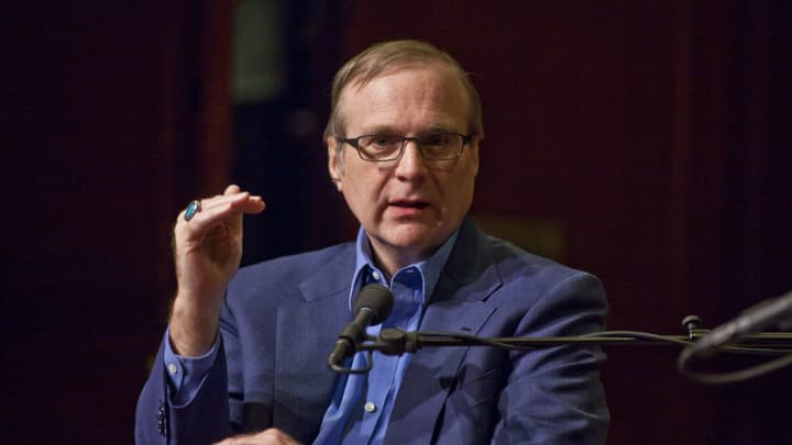 Paul Allen, Co-Founder of Microsoft, speaks during an event at the 92nd Street Y in New York, April 17, 2011.