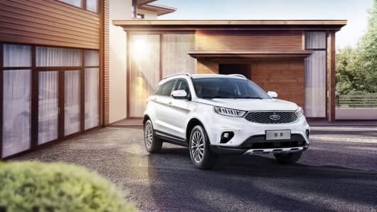 The Ford Territory, a mid-sized SUV Ford unveiled in China