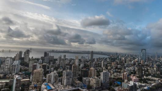 The Mumbai skyline on June 18, 2018.